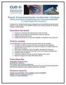 2019_Annonce Assistant de recherche clinique190514_MP_NT
